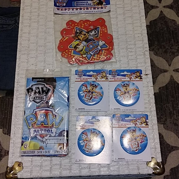 Paw Patrol Other - Paw Patrol Birthday Decorations Banner Buttons